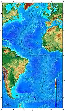 Mappa Dorsale medio-atlantica (Da Wikipedia)
