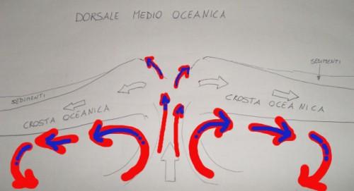 Dorsale Oceanica e moti convettivi