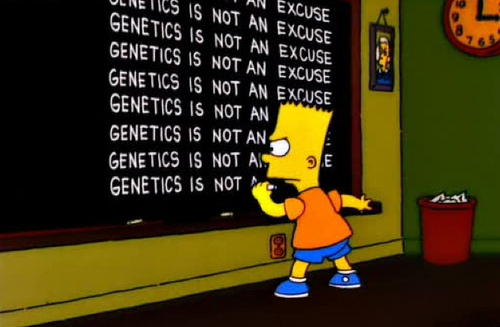 genetic is not an excuse - da http://bartsblackboard.com/