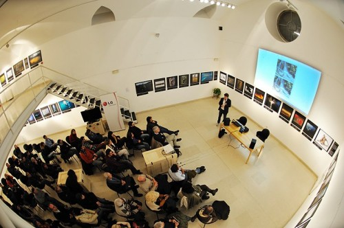 Marco Colombo alla mostra 'Wildlife Photographer of the Year' al Museo Minguzzi