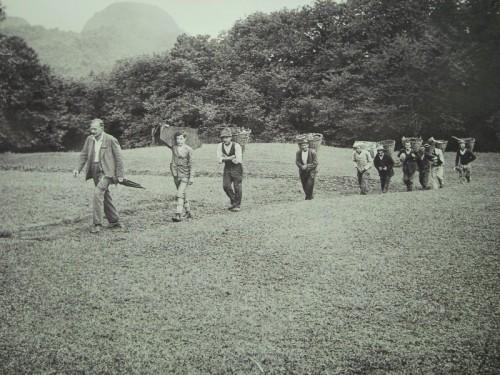 Bernard Peyer e il suo staff