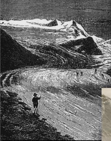 """Ghiacciaio dei Forni 1876 da """"Il Bel Paese"""" di Antonio Stoppani"""