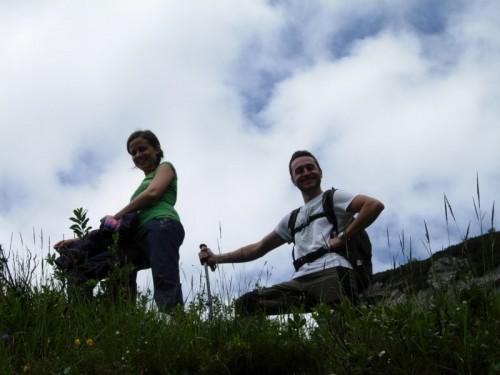 Laura e Gianlu in assetto alpenstock