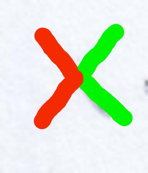 """X: a sinistra il segno > """"maggiore"""", a destra il segno < """"minore"""""""
